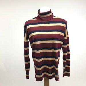 J crew 365 wool striped loose flowy sweater M